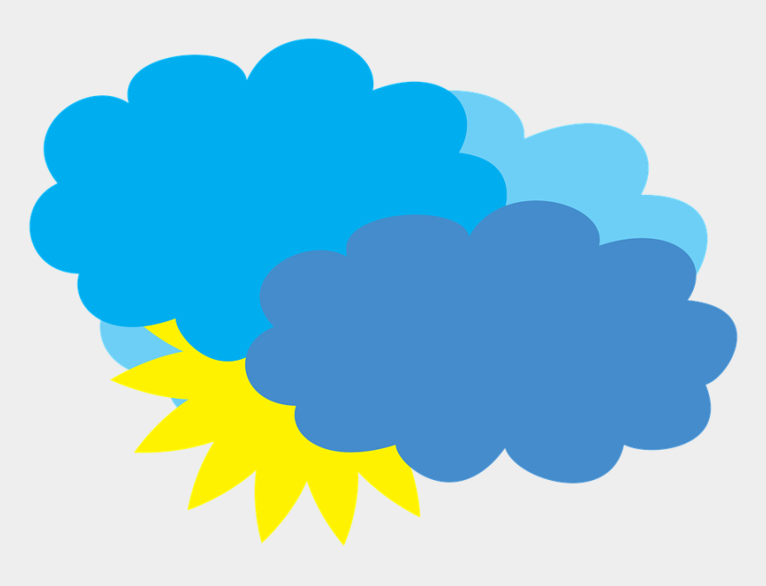 clouds clip art, Cartoons - Cloudy Weather Forecast Partly Cloudy - Rain Cartoon Transparent Png