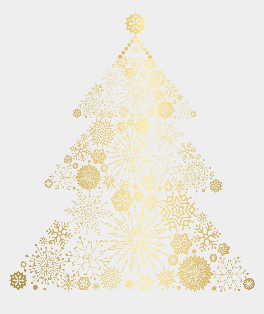 christmas trees clipart, Cartoons - Gold Christmas Tree Png