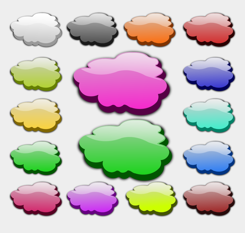 clouds clip art, Cartoons - Weather Few Clouds Clipart, Vector Clip Art Online, - Colour Clouds Clipart Png
