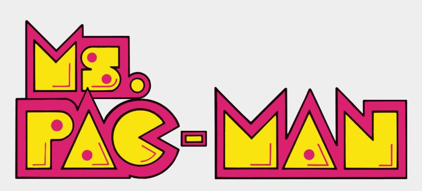 pacman clipart, Cartoons - Pac Man Logo Png - Miss Pac Man Logo