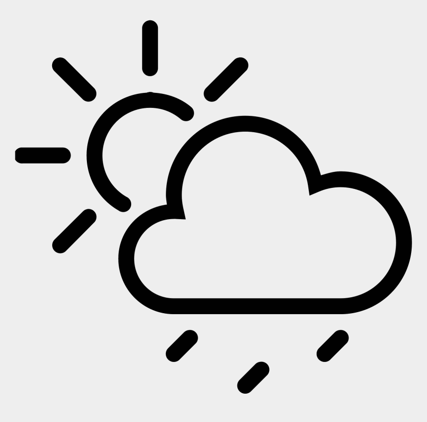 clouds clip art, Cartoons - Rain Cloud Icon - Weather Logo Black And White