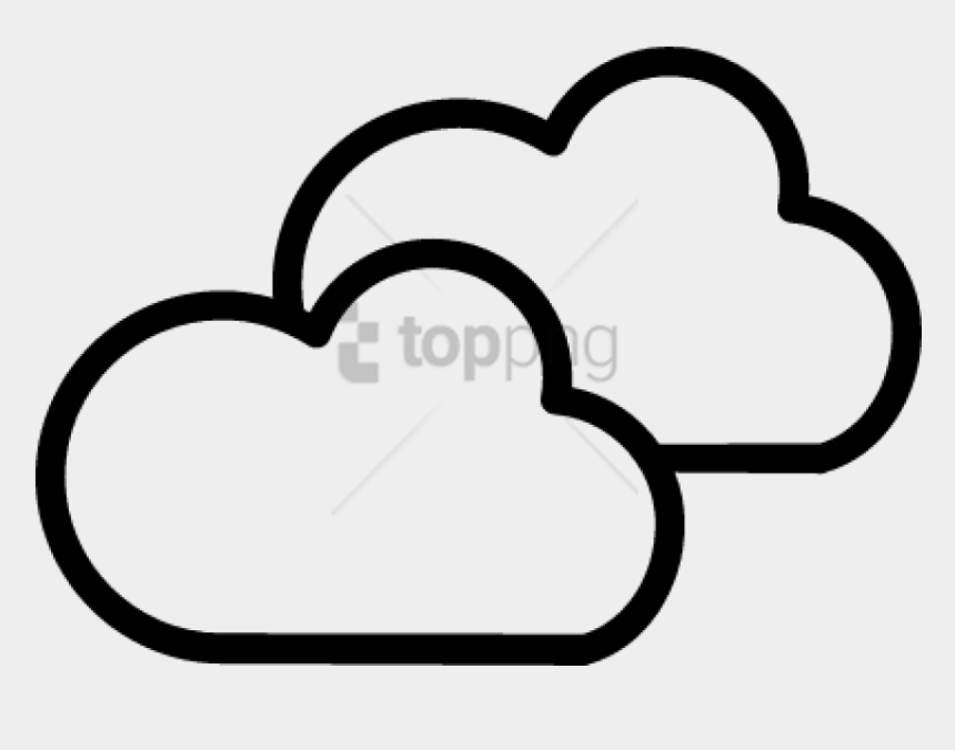 clouds clip art, Cartoons - Download Weather Symbol Images Transparent Background - Two Clouds Clip Art