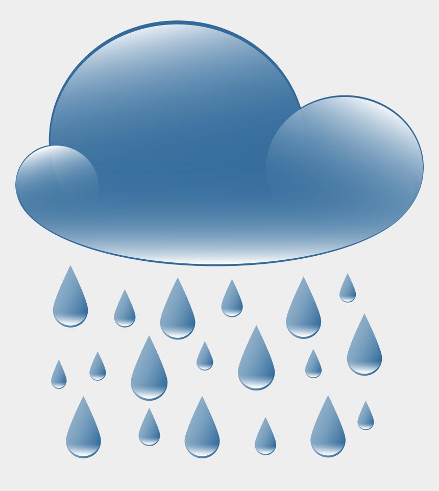 clouds clip art, Cartoons - Rain Cloud Weather Icon Png Clip Art