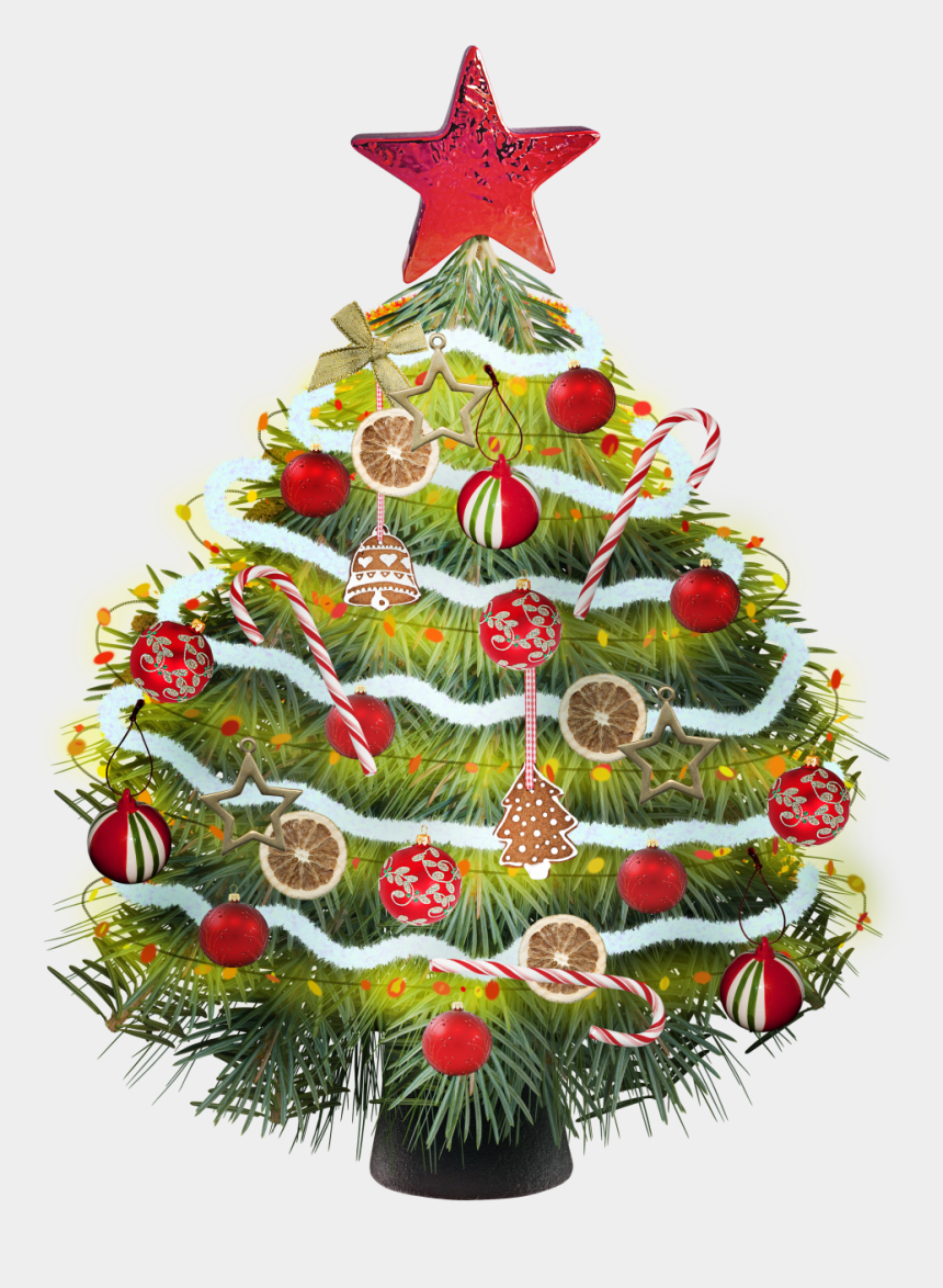 christmas trees clipart, Cartoons - Christmas Tree Clipart Colorful - Новогодние Украшений На Прозрачном Фоне
