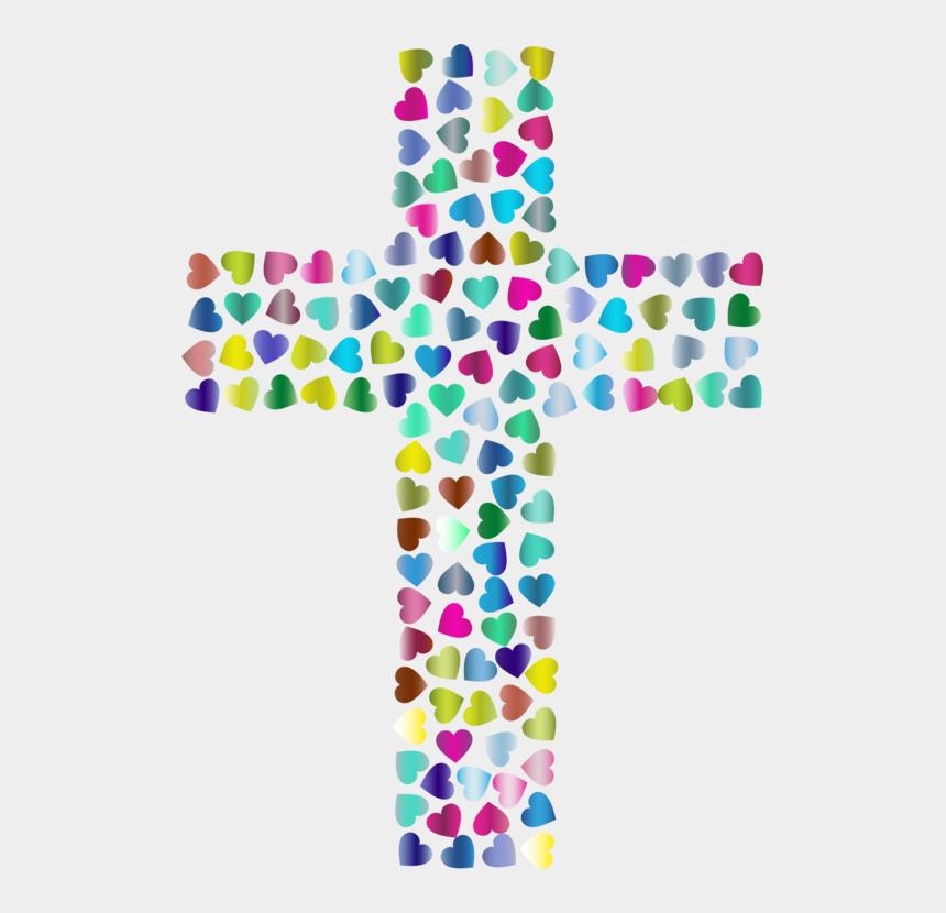 christian cross clip art, Cartoons - Christian Clip Art Christian Cross Christianity Crucifix - Hearts On Cross