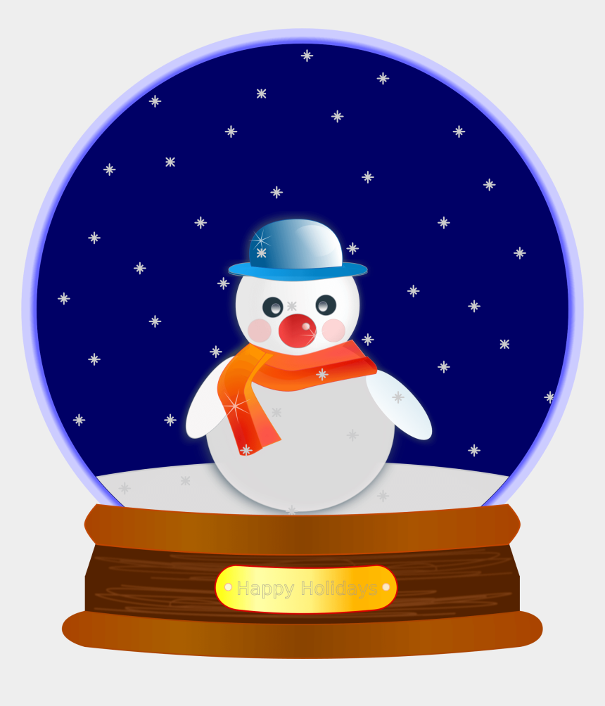 snow clip art, Cartoons - Snow Globes Clip Art Christmas Snowman Christmas Tree - Christmas Snow Globe Clip Art