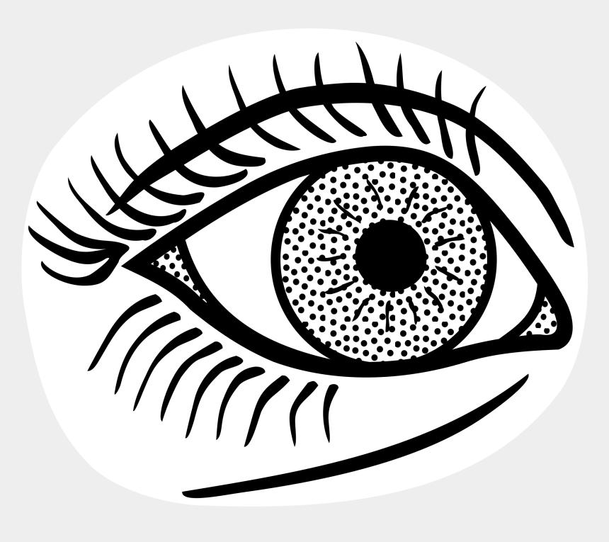 eye clip art, Cartoons - Drawing Detail Eye - Simple Line Drawing Eye