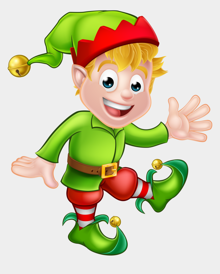 elf clip art, Cartoons - Clipart Giving Santa A Haircut Clipart - Christmas Elf Png