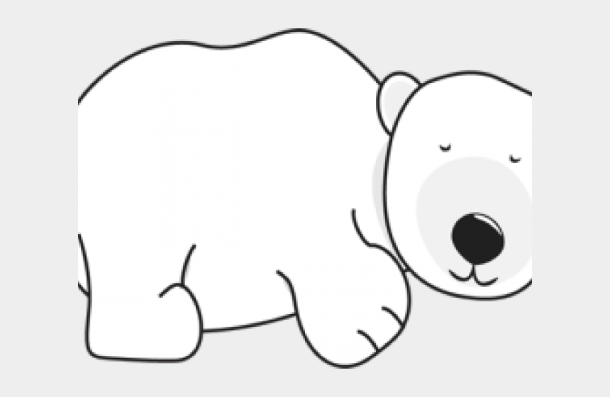 polar bear clip art, Cartoons - Polar Bear Clipart Sleeping Bear