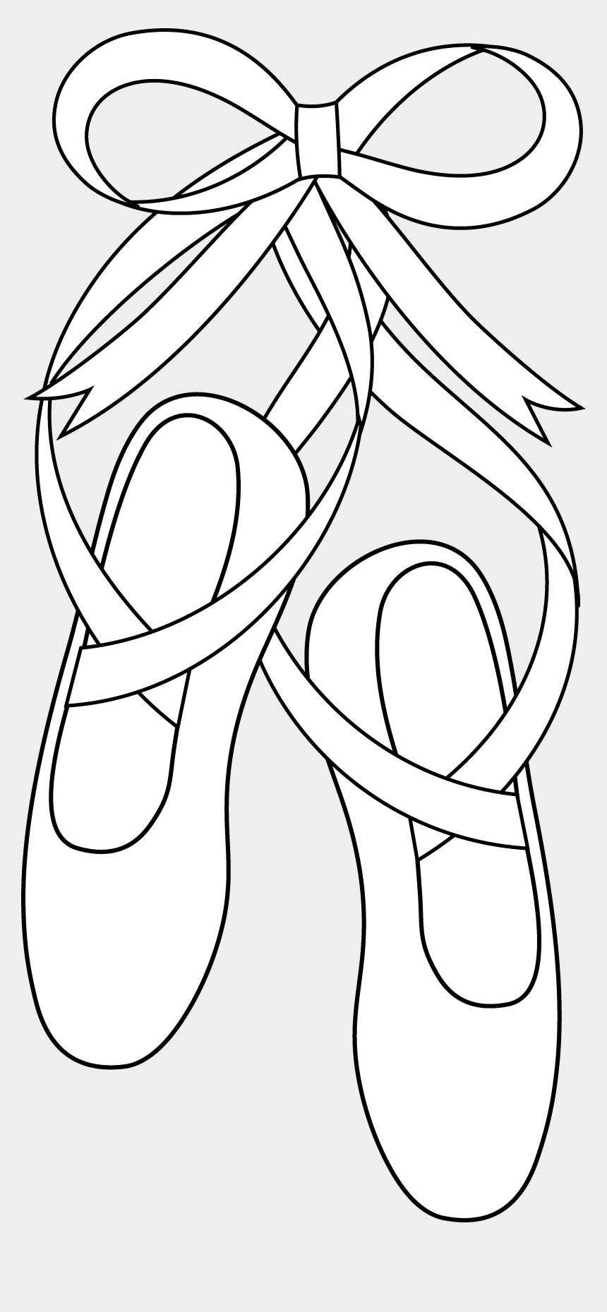 shoes clip art, Cartoons - Shoe Clipart Line Art - Ballet Shoes Clipart Black And White