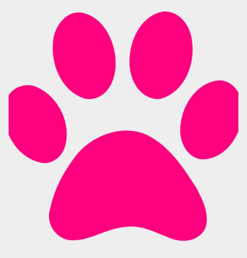 dog bone clip art, Cartoons - Pink Print - Dog Paw Print Pink