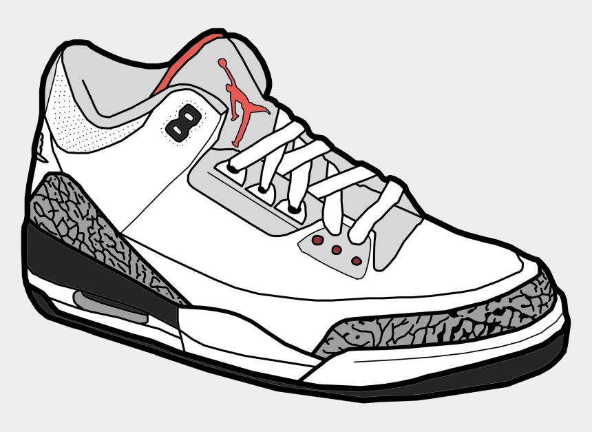 shoe clipart, Cartoons - Air Jordan 3, Jordans, Embroidery - Jordan Shoes Drawing