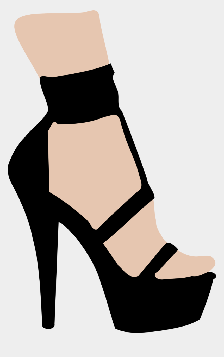 shoes clip art, Cartoons - High Heel Clipart Lady Shoe - Easy Drawings Of High Heels