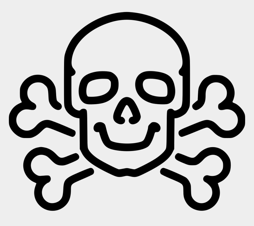 bone clip art, Cartoons - Poison Clipart Skull Bone - Skull And Bones Easy Drawing