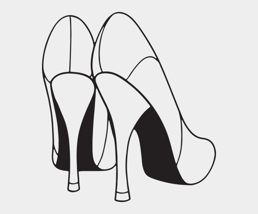 shoes clip art, Cartoons - Clip Shoes Designer - Heel Clipart Black And White