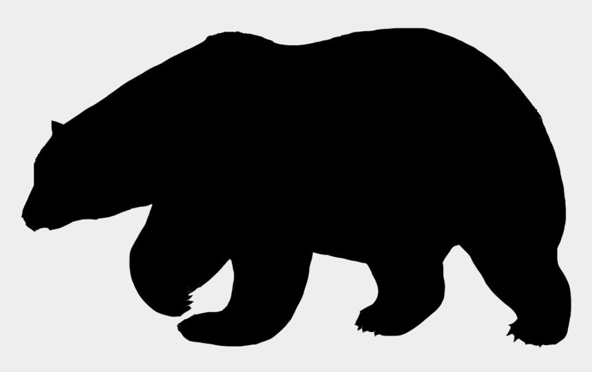 polar bear clip art, Cartoons - Bears Clipart American Black Bear - Polar Bear Black Silhouette