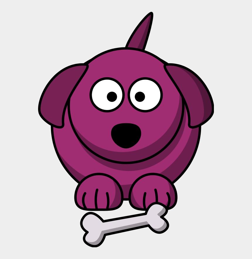 dog bone clip art, Cartoons - Vector Clip Art - Pink Cartoon Dog Clipart