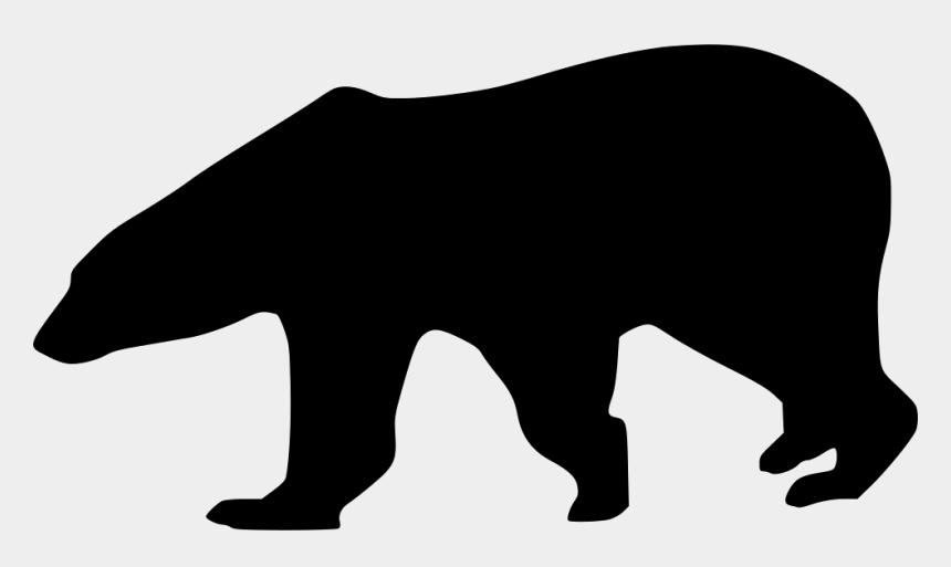 polar bear clip art, Cartoons - Clipart Reading Polar Bear - Polar Bear Silhouette Png