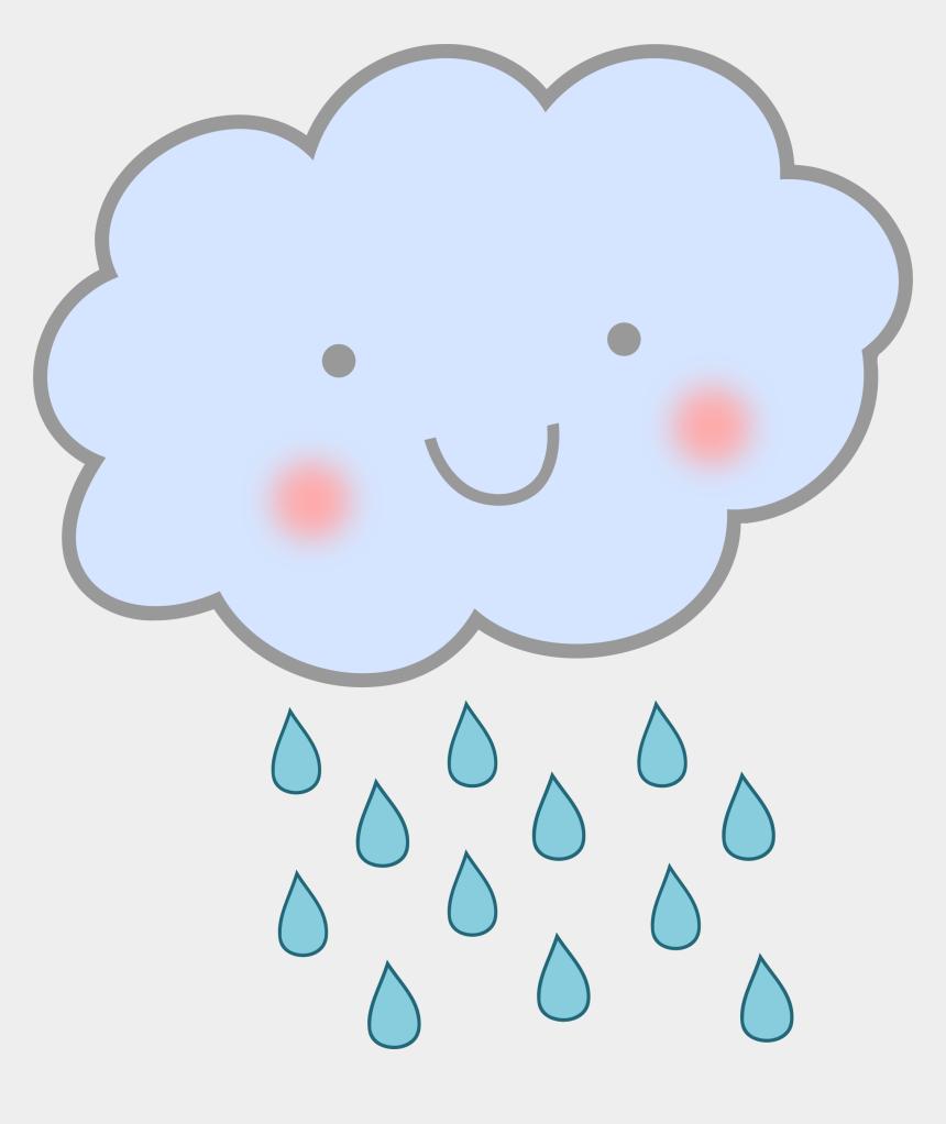 rain clip art, Cartoons - Clipart Cute Rain Cloud - Transparent Background Rain Clipart