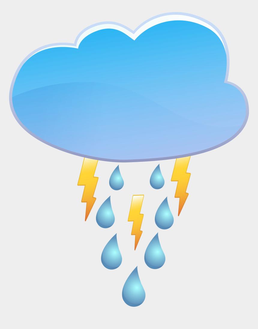 rain clip art, Cartoons - Cloud Rain And Thunder Weather Icon Png Clip Art