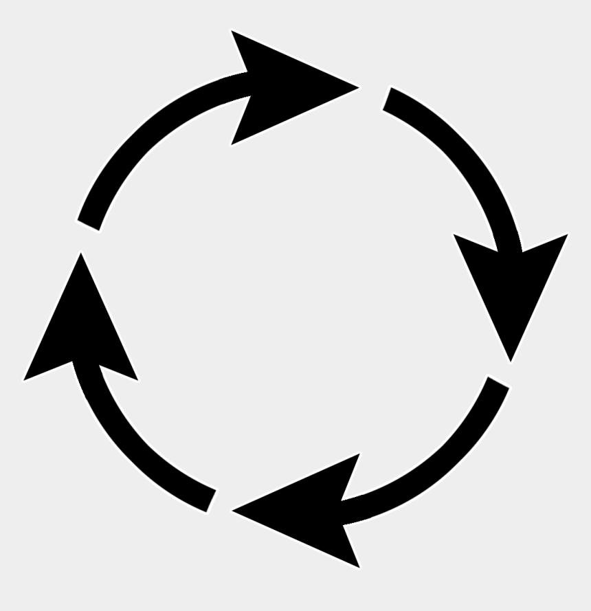 arrows clip art, Cartoons - Arrow Sign Circle - Transparent Black Circle Arrow