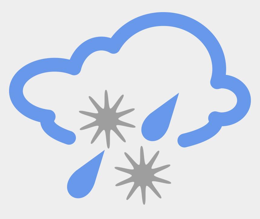 rain clip art, Cartoons - Snow Clipart Rain - Snow And Rain Weather Symbols