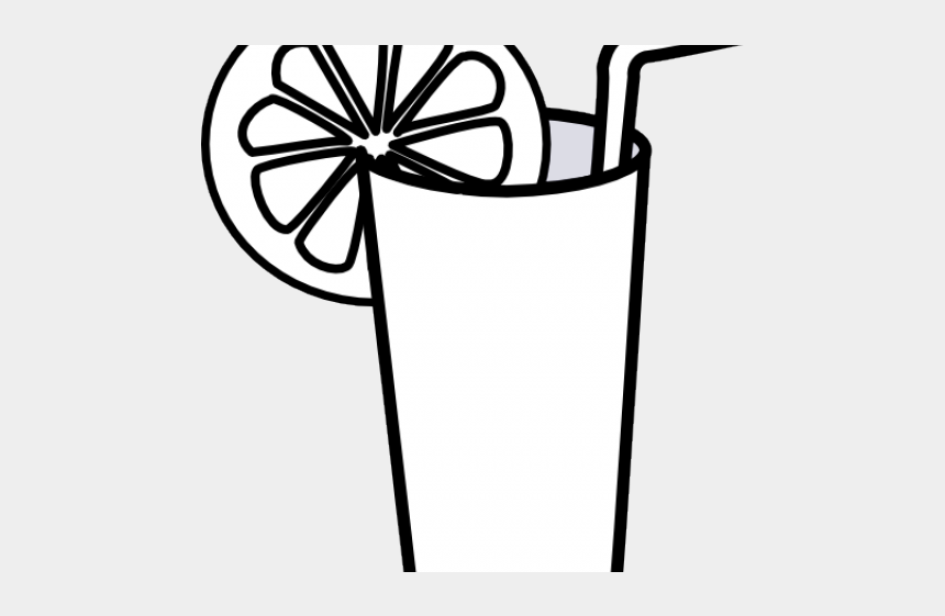 glass clipart, Cartoons - Glass Clipart Lemon Juice - Drink Clipart Black And White