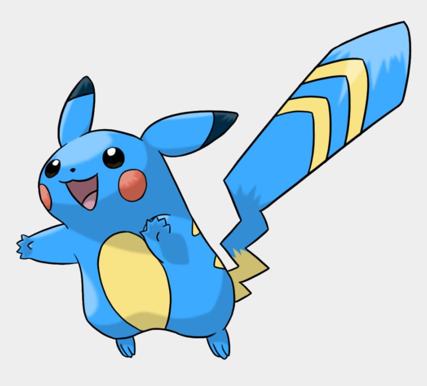 pokemon clip art, Cartoons - Pikachu Clipart Electric - Pokemon Water Type Pikachu