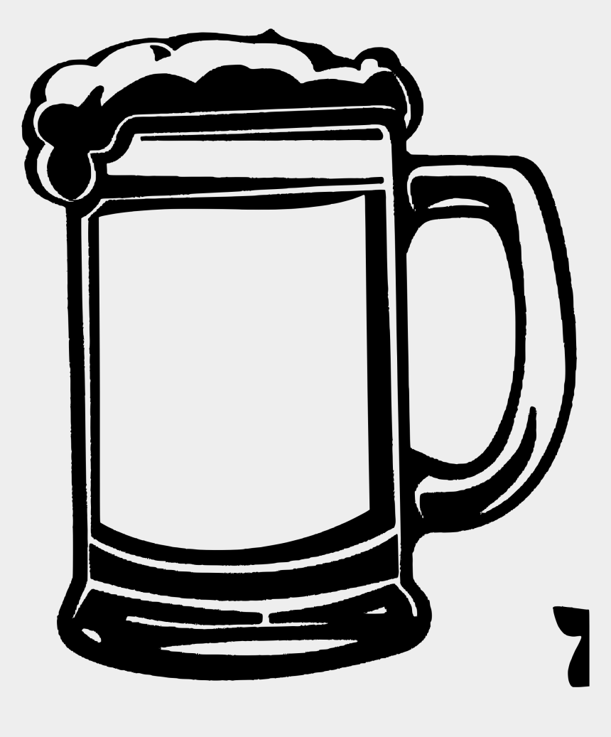 glass clipart, Cartoons - Beer Glass Clipart Black And White - Beer Mug Vector Png