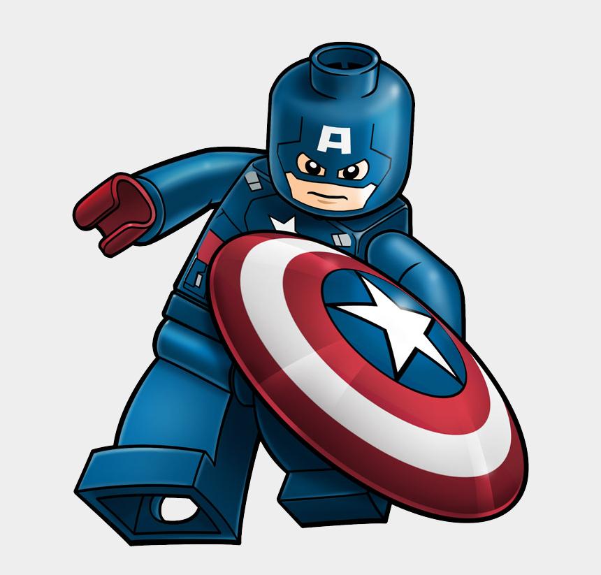 superhero clip art, Cartoons - Captain America Lego Hd Clip Art Png Background - Captain America Lego Cartoon