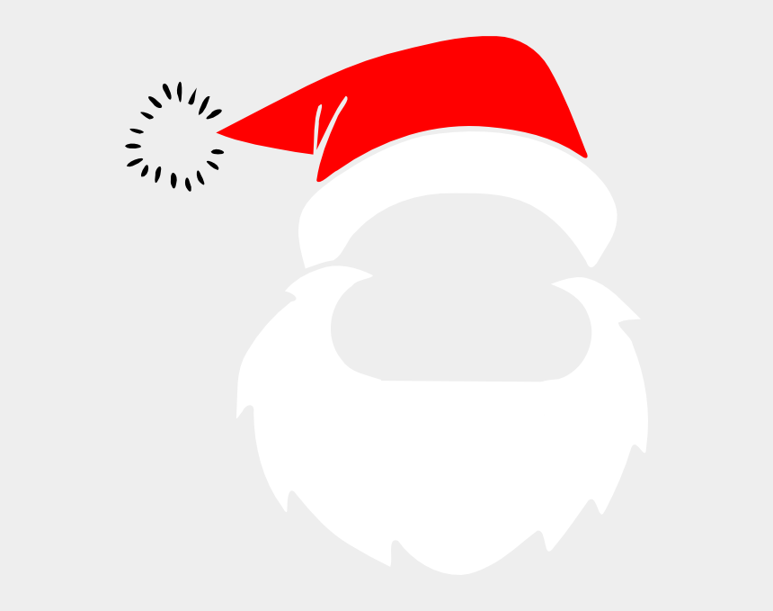 santa hat clip art, Cartoons - 582 X 599 - Santa Hat And Beard Clipart
