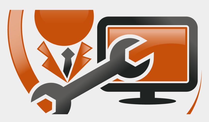 computer technician clipart, Cartoons - The Anti Shutdown Service Expert - Computer Sales And Services Logo