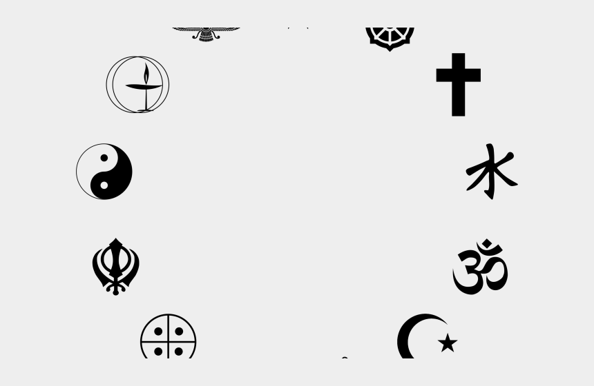 christian symbols clipart, Cartoons - Religious Symbols Clipart - Central Sikh Gurdwara Board