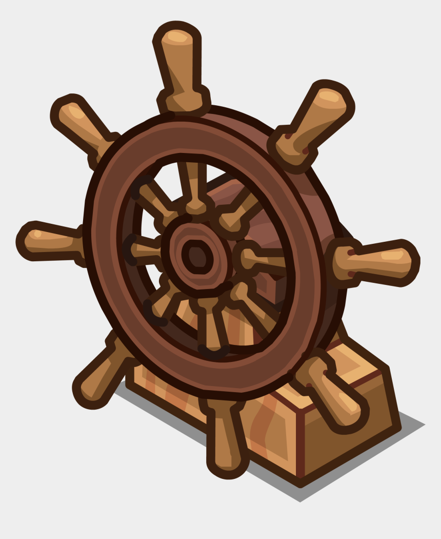 pirate ships clipart, Cartoons - Ship S Club Penguin - Boat Wheel Transparent Png