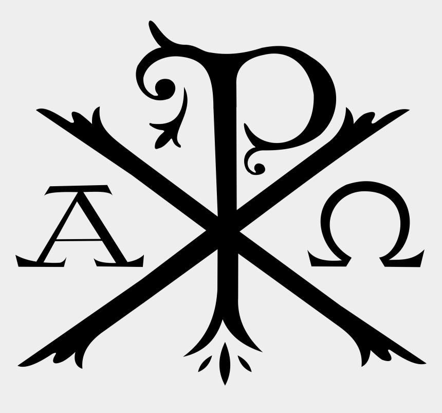 christian symbols clipart, Cartoons - Chi Rho Alpha And Omega Christian Cross Symbol