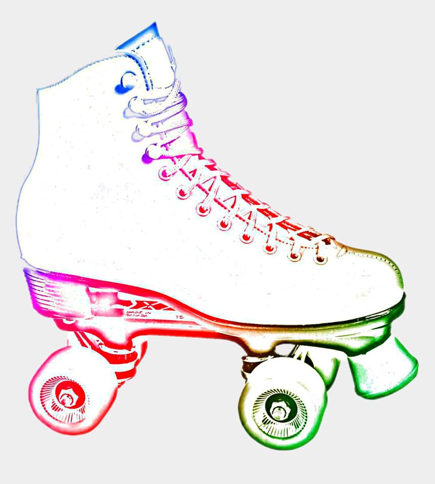 roller skating clipart, Cartoons - #neon Roller Skate #fun #childhood - White Roller Skates Clip Art