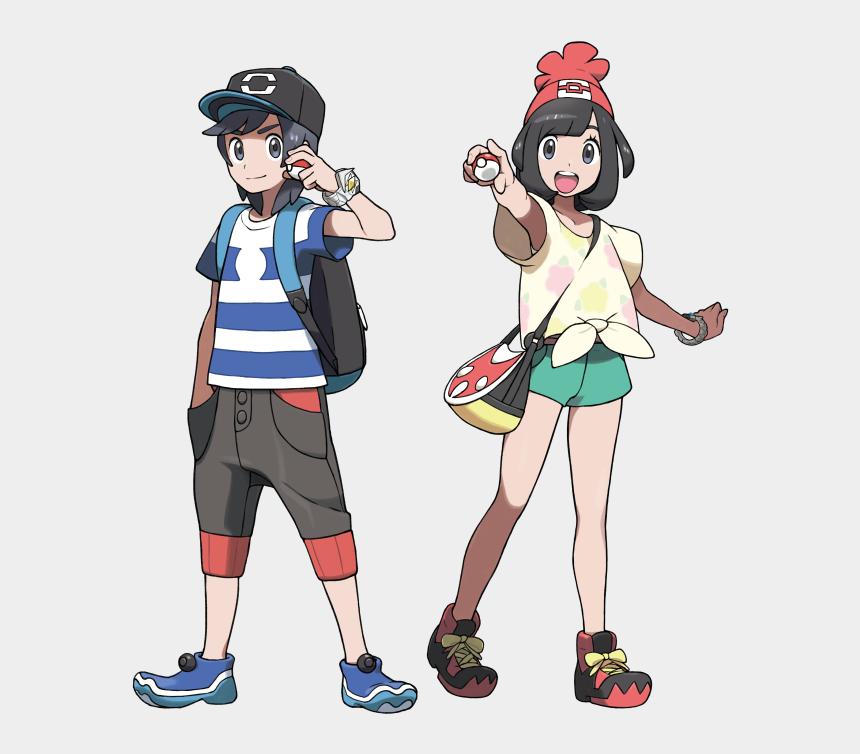 roller skating clipart, Cartoons - Family Clipart Roller Skating - Pokemon Sun Moon Main Character