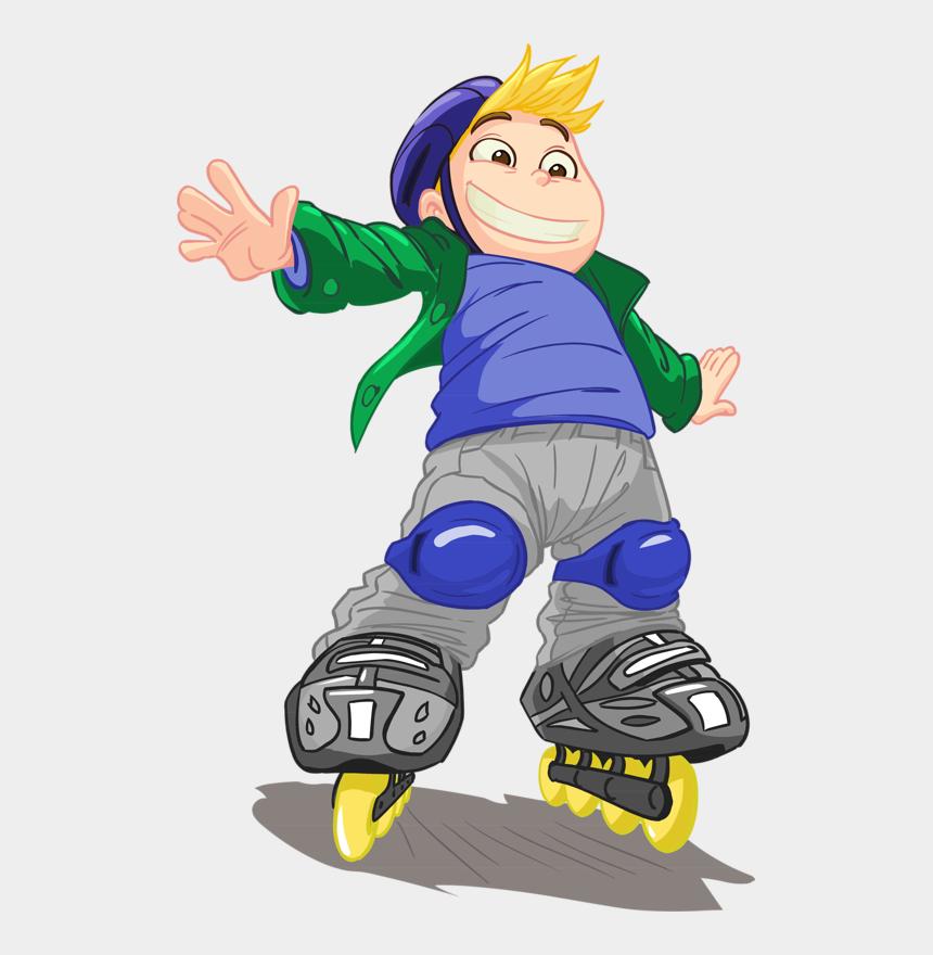 roller skating clipart, Cartoons - Clipart People Roller Skating - Niño En Patines Png