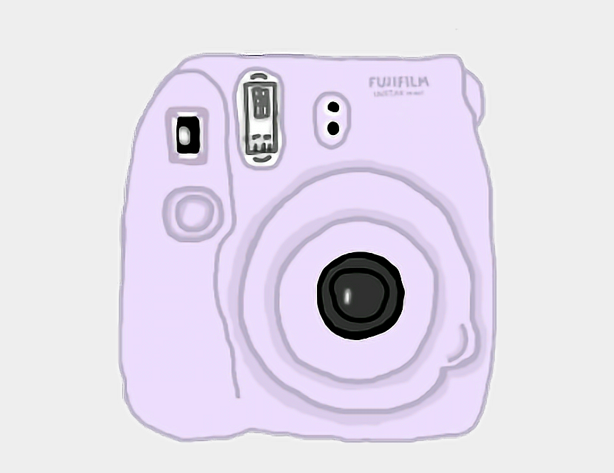 polaroid clipart, Cartoons - Tumblr Polariod Camera Clipart Polaroid Pictures Png - Purple Aesthetic Stickers Png