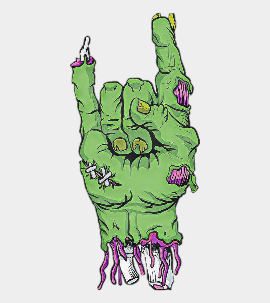 devil horn clipart, Cartoons - #hand #devil #horns #zombie #sticker Zombie Hand Devil - Zombie Hand Rock