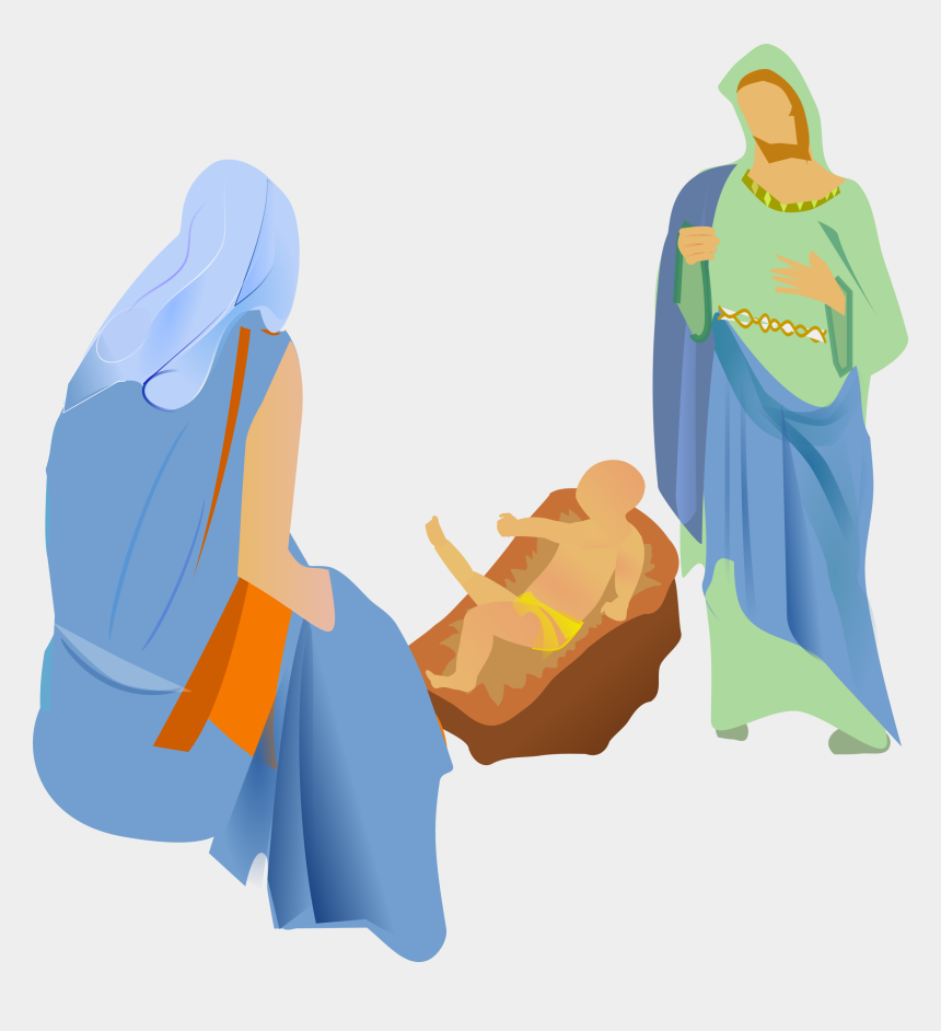 christ is born clipart, Cartoons - This Png File Is About Remix 206122 , Birth , Jesus - Nativity With Christmas Tree Png
