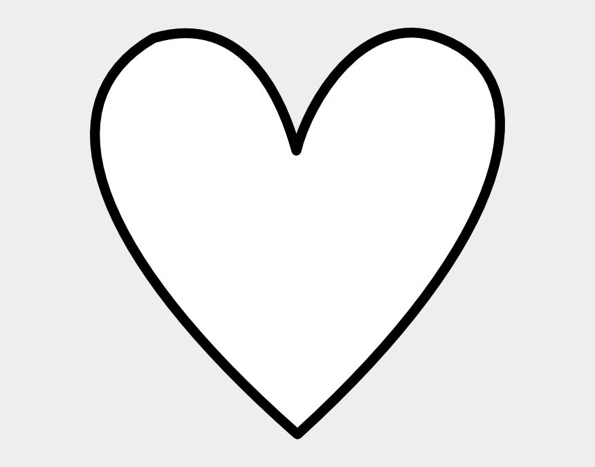 livingroom clipart, Cartoons - Heart Shape Outline Clip Art - Black And White Heart Outline