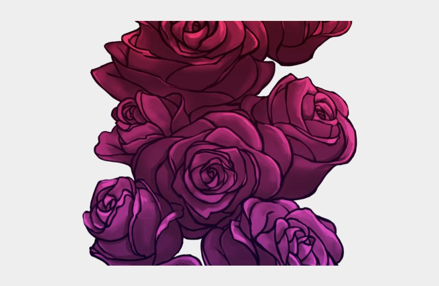 finishing line clipart, Cartoons - Drawn Rose Digital - Transparent Purple Flower Drawings