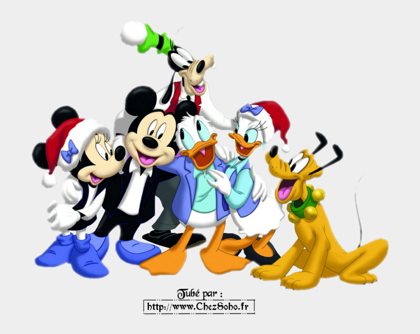 gang clipart, Cartoons - Christmas Mickey Mouse And Minnie Mouse With The Disney - Merry Christmas Friendship Cartoon