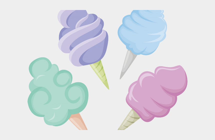 serve clipart, Cartoons - Cotton Candy Clipart Colourful Sweet - Algodão Doce Vetor Png
