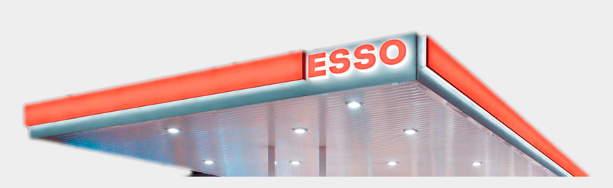 gas station building clipart, Cartoons - Esso Petrol Station - Architecture