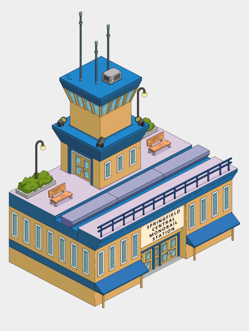 gas station building clipart, Cartoons - Monorail Station - Monorail Station Tapped Out