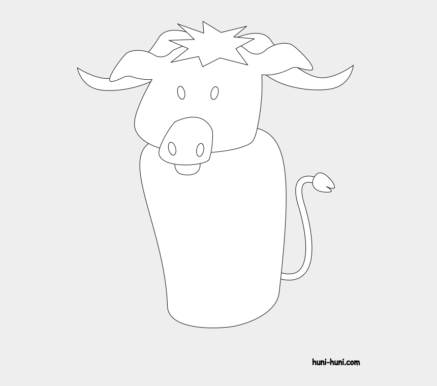 puppets clipart, Cartoons - Huni Huni Flashcard Coloring Page Outline Kabaw Waterbuffalo - Buffalo Finger Puppets