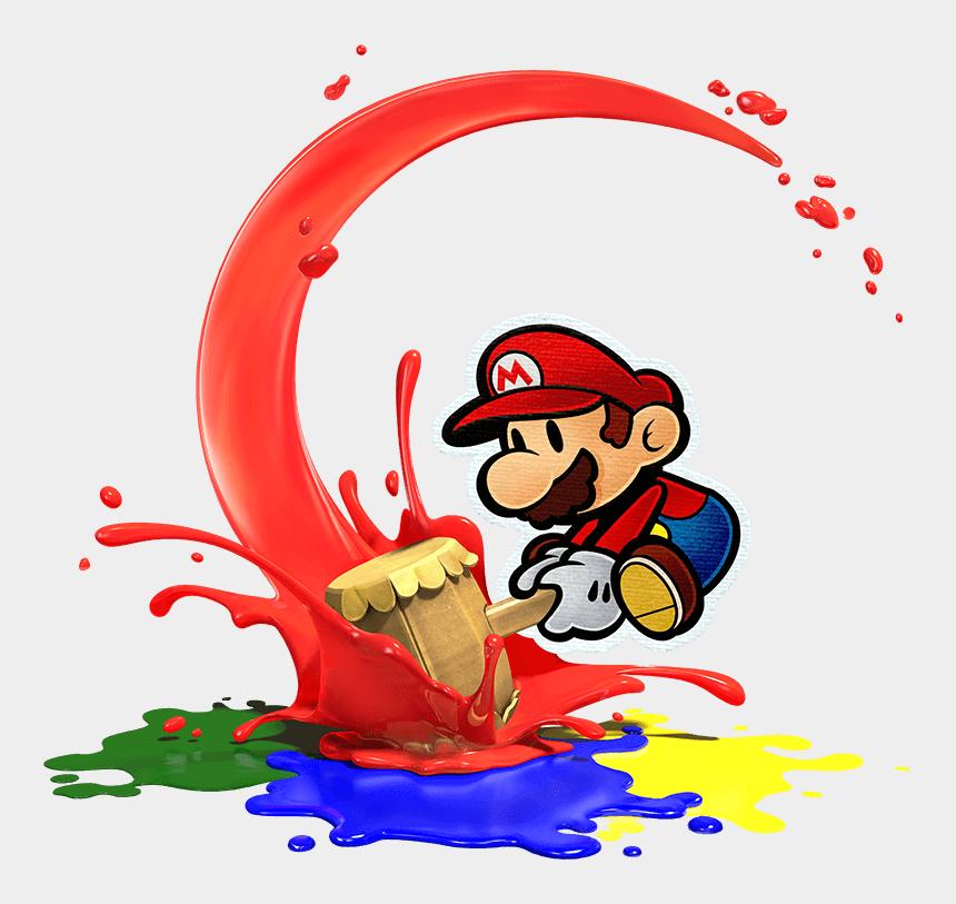 repeat clipart, Cartoons - Mario Clipart Paper Mario - Paper Mario Color Splash Art