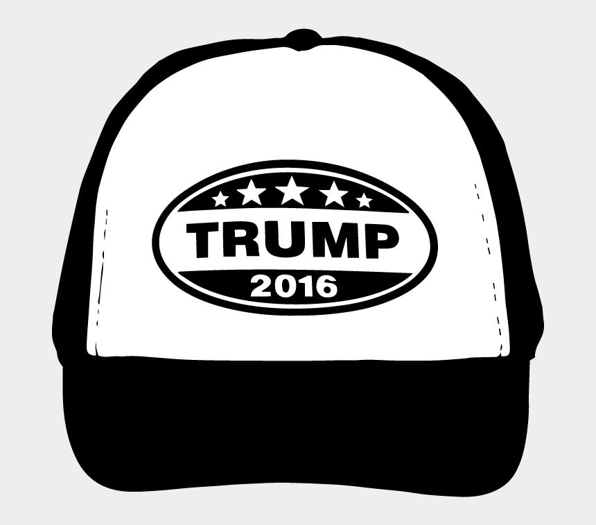straw hat clipart, Cartoons - Donald Trump Hat Silhouette Vector Clip Art Free Vector - Download Vector Trucker Hat